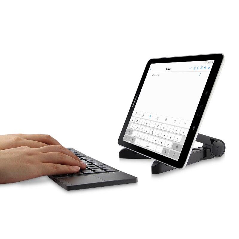 Clavier Bluetooth sans fil deux fois pliant pour Samsung Galaxy Tab 3 Tab3 4 2 8.0 10.1 7.0 SM-T530 tablette TouchPad étui pour clavier