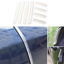 2019 Newest Hot Useful Transparent Car Door Edge Guards Trim Molding Protection Strip Scratch Protector(China)