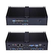 Mini Pc Intel I7-6500U 2.5GHz Dual Core 4GB DDR4 64GB SSD 6 Gigabit Ethernet Machine Micro Industrial Q570X Multi-Network Port