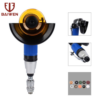 """4"""" Air Angle Grinder Grinding Machine For Metalworking Cutting Polishing Buffing Pneumatic Tool Knob Switch"""