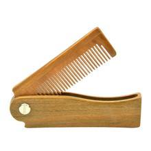 Новая мини натуральная расческа из бульнезии маленькая Складная Расческа для бороды Высокое качество Портативный Стильный Модный Прочный Удобный подарок мягкий