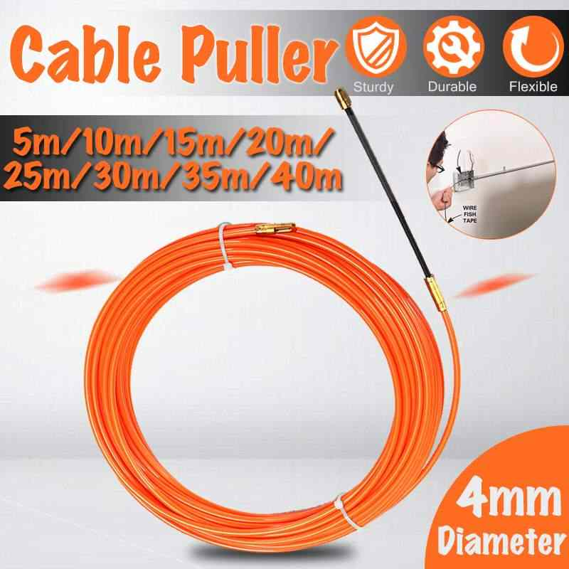 4mm 5 Meter To 40 Meter Orange Guide Device Nylon Electric Cable Push Pullers Duct Snake Rodder Fish Tape Wire
