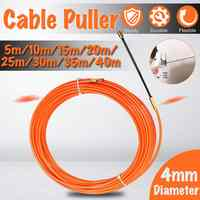 4mm 5 mètres à 40 mètres Orange Guide dispositif en Nylon électrique câble poussoirs conduit serpent rongeur poisson ruban fil