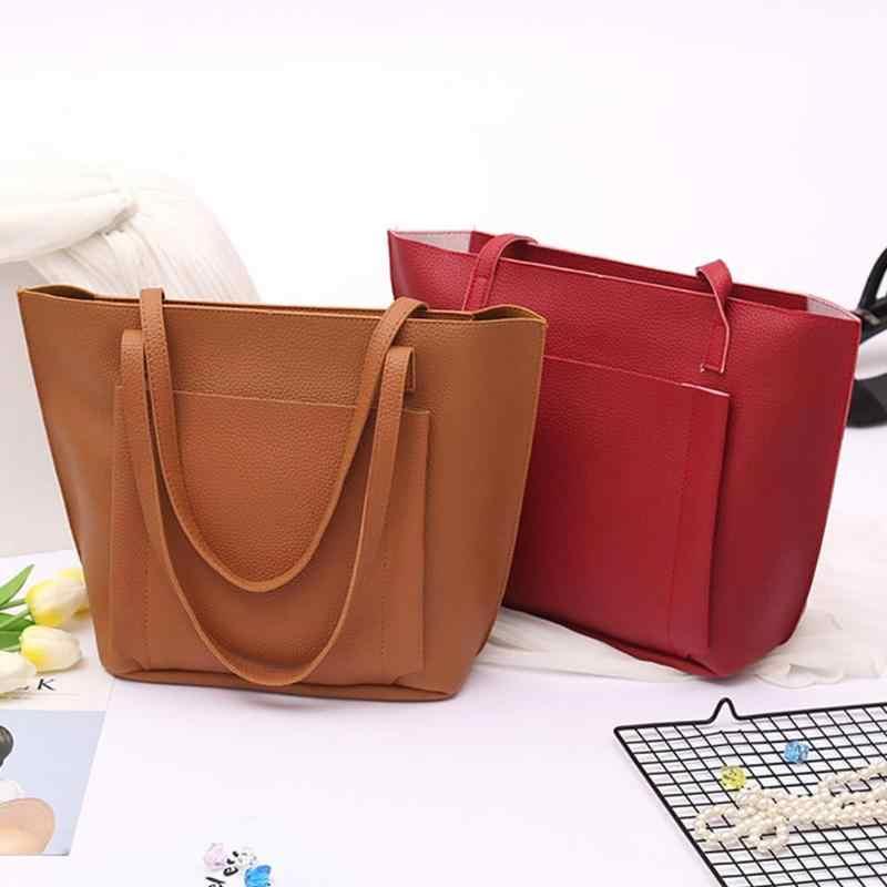 2019 4 Pcs/Set Ladies Shopping Bags Handbag Fashion Women Shoulder Bags Female Crossbody Bags High Capacity Bolsa Feminina