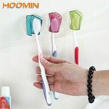 3 pièce/ensemble ventouse porte brosse à dents brosse à dents couverture stockage support mural salle de bain produit fournitures pour la maison