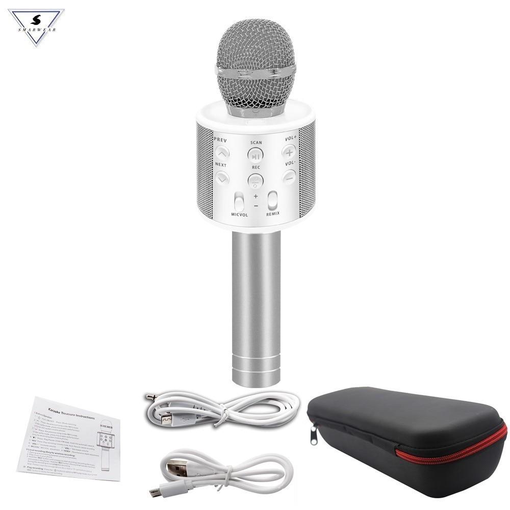 WS-858 Bluetooth Microphone Wireless Professional Condenser Karaoke Mic Magic Sound Mikrofon Studio Recording Studio Майка