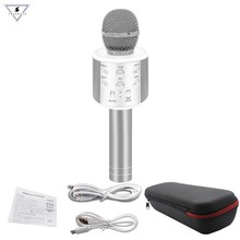 WS-858 bluetooth microphone wireless professional condenser karaoke mic magic sound mikrofon studio recording Майка