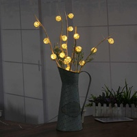 25 LED Branch Vase Table Lights Garden LED Twig Lights Solar Tree Lights Small Colored Lamp Christmas Festival Party Home Decor