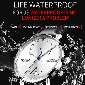 Image 3 - นาฬิกาผู้ชาย2020โมเดิร์นหนังผู้ชายนาฬิกาข้อมือควอตซ์Casual Businessนาฬิกาข้อมือบุรุษแบรนด์Belushiนาฬิกา