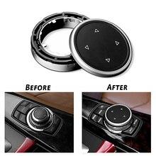 Per iDrive Car Multimedia Copertura del Tasto Trim Manopola Sticker per BMW F10 F20 F30 3 5 Serie per NBT Controller pulsante traslucido