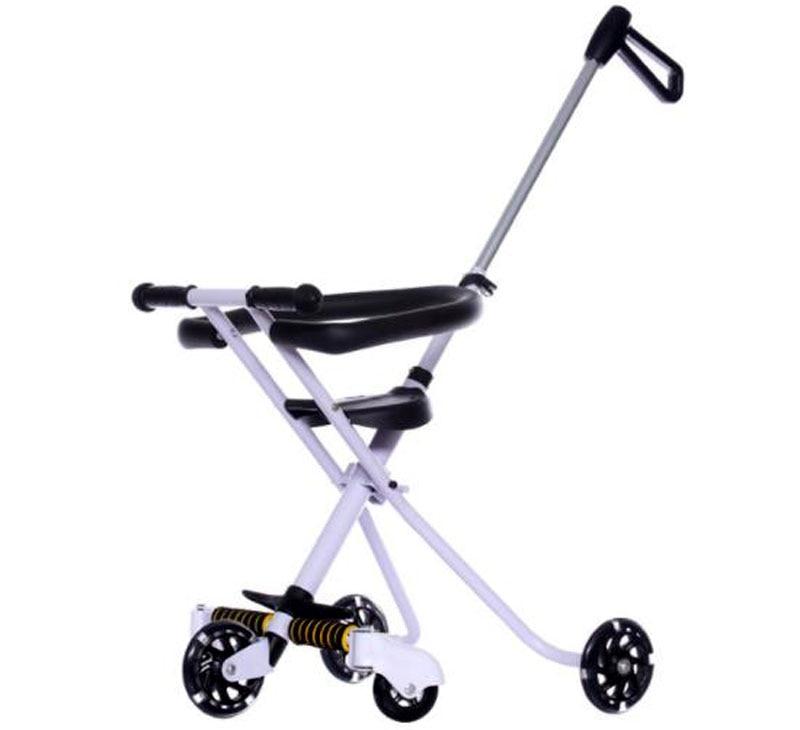 נייד מתקפל פלדה תינוק תלת אופן עגלת קל שלושה גלגלים ילדים עגלה Pushchair ברכב באגי עגלה טיול