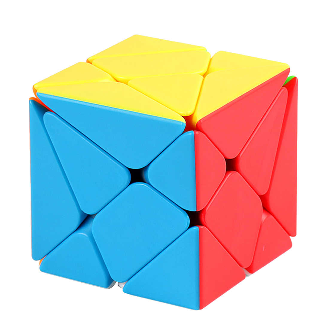 MF8848 Mofang Jiaoshi Fluctuate Type 3x3x3 Skew Magic Cube Educational Toys for Brain Trainning - Colorful