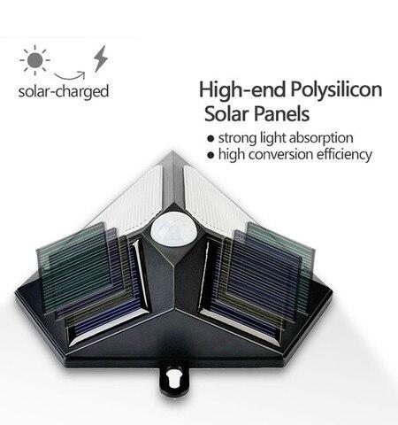 dcoo 6led luzes de energia solar ao