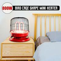4x 220V 800W Electric Fan Room Heaters Energy Saving Bird Cage Shape Desktop Heating for Winter Household Bathroom