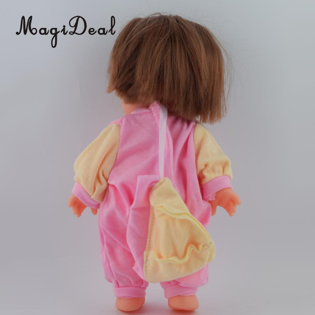4025408661d1 Lovely Pink Yellow Jumpsuit and Hat Suit for Mellchan Baby Doll ...