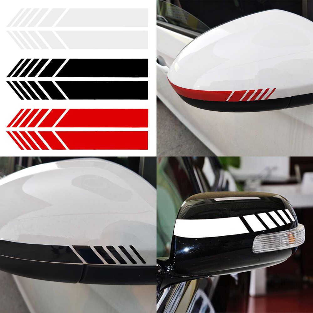 2pcs automobils car rearview mirror sticker car decals badge sticker diy mirror decor side decal stripe