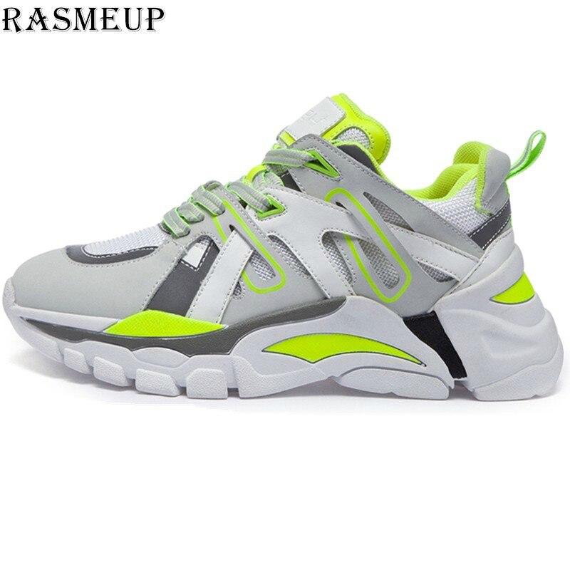 RASMEUP Mesh Women s Chunky Sneakers 2019 Spring Women Platform Sneaker Fashion Comfortable Casual Woman Dad
