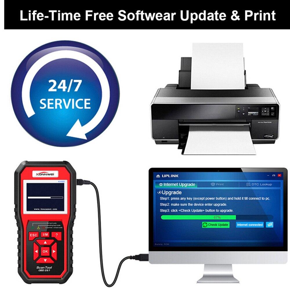 KONNWEI KW850 OBDII EOBD Volle OBD2 Auto Diagnose Werkzeug KW 850 OBDII Auto Scanner PK AD310 NT301 Update mit RU /UK/BR - 5