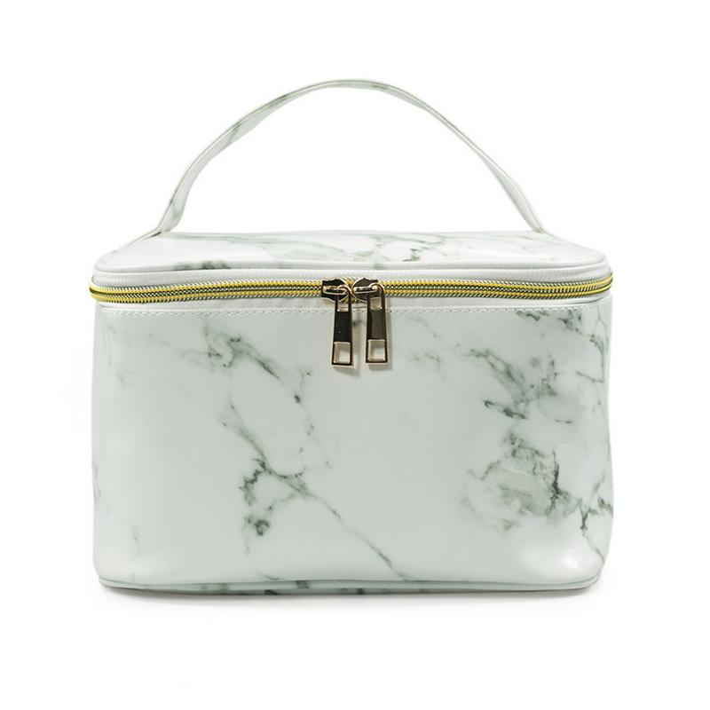 Marble Texture Travel Wash Up Toiletry Pouch Large Capacity Storage Bag Women Cosmetic Makeup Cosmetic Bags Makeup Organizer Bag