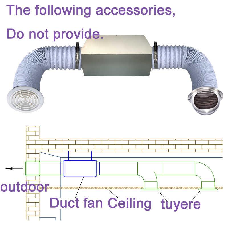 6 110v 220v home ultra silent exhaust