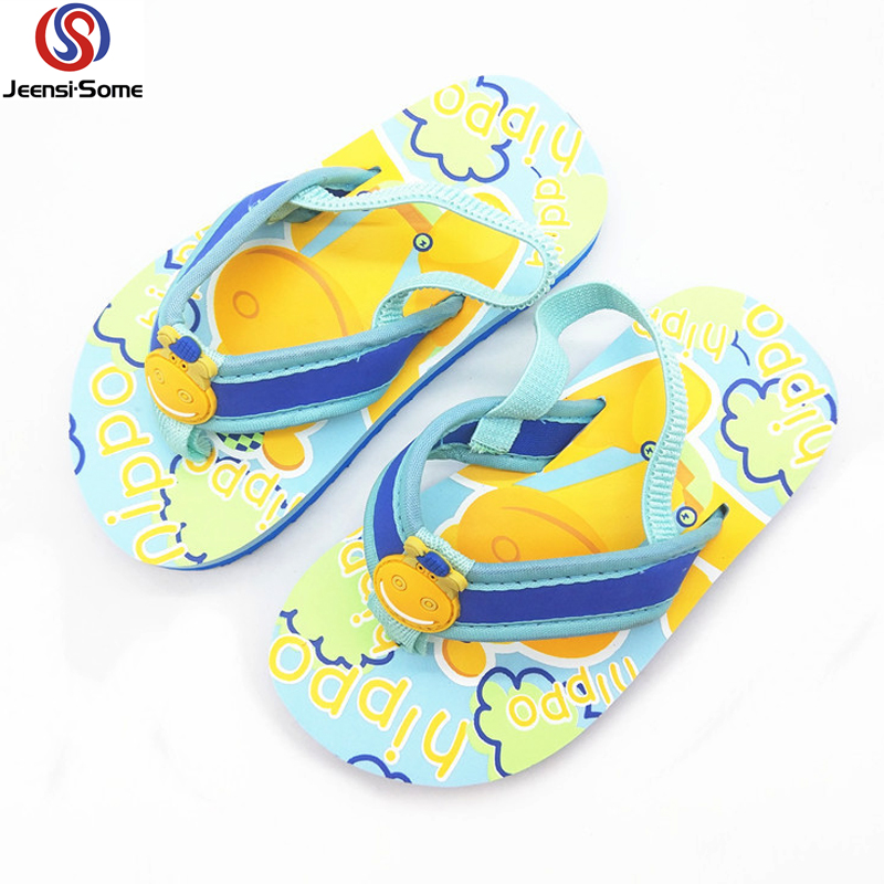 662556ee2 Beach Slippers Kids Flip Flops Boys Sandals for Boy Barefoot Shoes Kids  Blue Sea Slipper Kid
