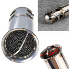 126mm Silver Stainless Steel Motorcycle Racing Exhaust Can DB Killer Silencer Muffler Baffle