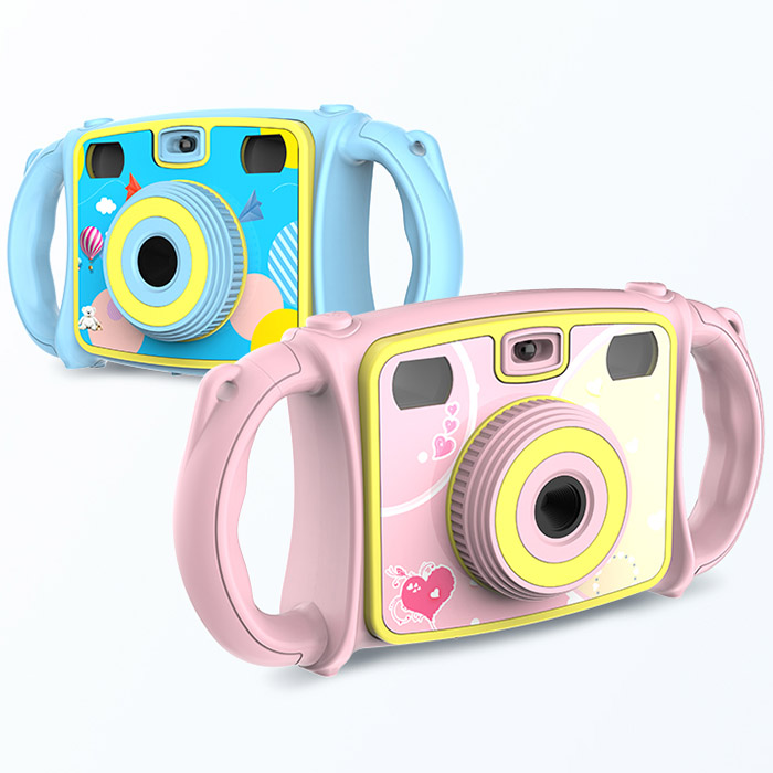 Electronic Toy Camera Cartoon Dual Lens