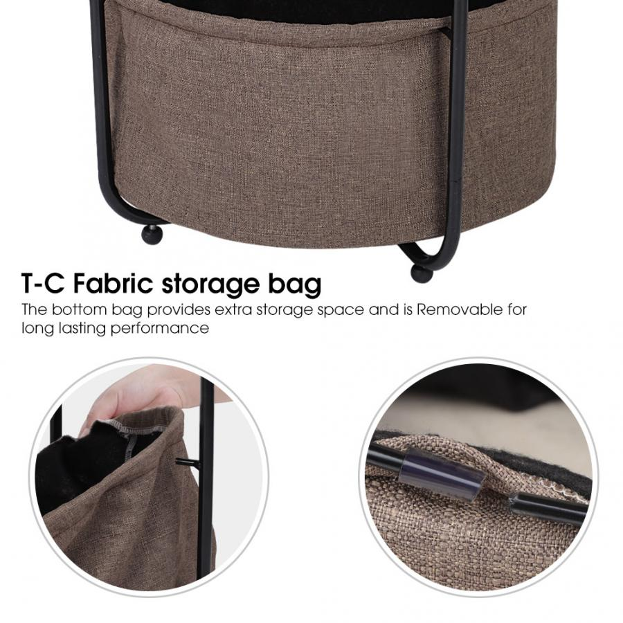 Image 4 - Coffee Table Armchair Slide Under Sofa End Table Round Sofa Console Table with Storage-in Coffee Tables from Furniture