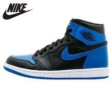 official photos 8a9bf 7148f Nike Air Jordan 1 OG real AJ1 Joe Primer Año Original azul y negro zapatos  de baloncesto de los hombres al aire libre confort za.
