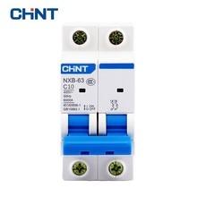 CHNT Mcb Circuit Breaker Household Two Pole Mini Circuit Breaker NXB-63 2P 10A 400V 50HZ Air Switch  New DZ47 2p 10a dc 440v circuit breaker mcb