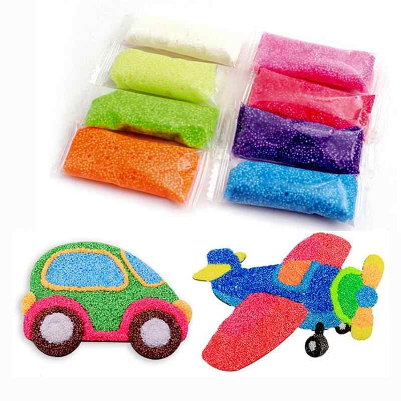 8 Colors Children DIY Modeling Clay Slime Toys Child Handmade Snowflake Mud Set Kids Montessori Early Educational Toys DIY Slime