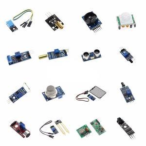 great IT Raspberry pi 2 3 the sensor module package HC-SR04 501 DHT11 DS3231 KY-008 Sound Rain Soil sensor for arduino kit