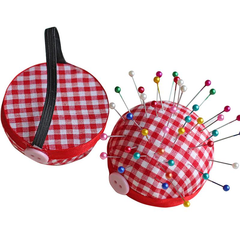 Cute Sewing Pin Cushion DIY Handcraft Tool Stitch Pincushions With Elastic Wrist Belt Needle Cushions Sewing Accessories