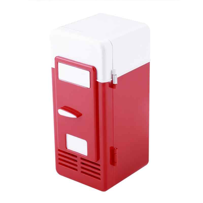 Mini USB lodówka LED lodówka napoje puszki na napoje lodówka i grzejnik chłodnicy