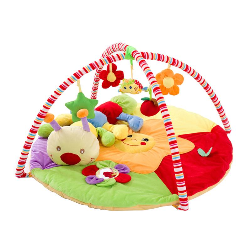 Bébé jouer musique tapis tapis jouets enfant ramper jeu tapis développer tapis avec chenille poupée infantile tapis début éducation Rack jouet