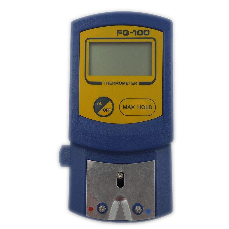 Цифровой наконечник для паяльника, термометр, прибор для измерения температуры с ЖК-дисплеем и 5 датчиками температуры