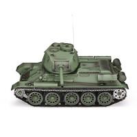 Original Heng Long 3909 1 1/16 2.4G 4CH T 34 Rc Car Army Green Battle Tank Metal W/ Sound Smoke Toy RC Tanks Kids Toys