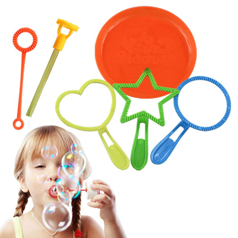 Kids Blowing Bubble Toys For Children Outdoor Fun Games Boys Girls Toy Birthday Gifts With Not Included Soap Liquid