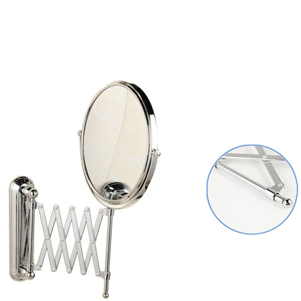 6 Inch 3x Magnifying Round Wall Mirror Two Sided Retractable Bathroom 360 Degree Swivel Makeup In Bath Mirrors From Home Improvement On