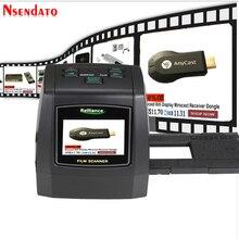 """14MP/22MP 고해상도 포토 포토 필름 스캐너 변환 35 mm 8 mm 컬러 2.4 """"LCD 슬라이드 뷰어 필름 디지털 네거티브 스캐너"""
