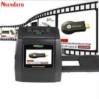 """14MP/22MP Foto de alta resolución Foto película escáner convertir 35 mm 8 mm Color 2,4 """"LCD Slide Viewer película Digital negativo escáner"""