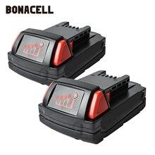 Bonacell 18V 2000mAh M18 XC Li-Ion Replacement Battery for Milwaukee 48-11-1815 M18B2 M18B4 M18BX L30