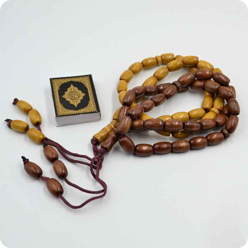 33 cuentas de oración de madera de 8mm, Rosario islámico de Tasbih musulmán Subhah Masbahah Misbahah Alá Makita