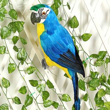 25 35cm Handmade symulacja papuga kreatywny piórko trawnik figurka ozdoba zwierząt ptak ogród ptak Prop dekoracji tanie i dobre opinie Żywica Garden Statues