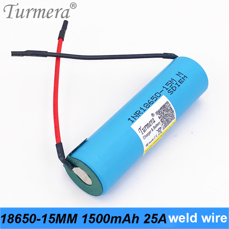 rechargeable battery 18650 1500mah INR18650-15MM 25a discharge current for screwdriver shura 12v 18v and samsung vacuum battery