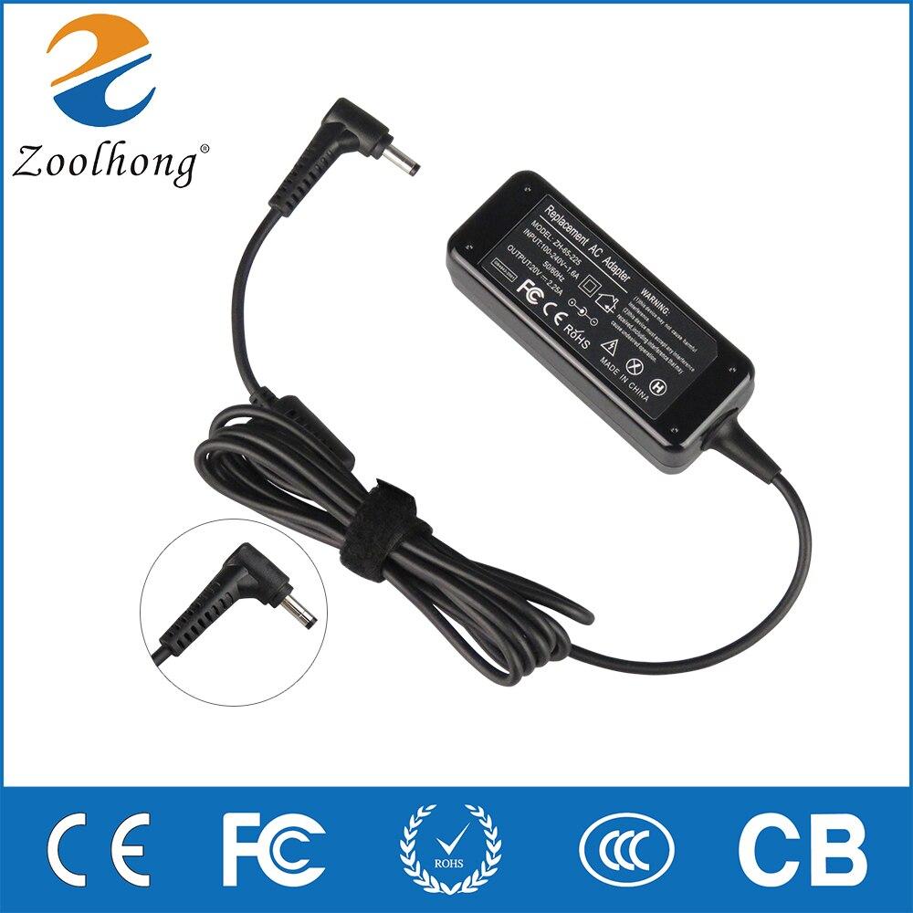 20 v 2.25a 4.0*1.7mm portátil adaptador carregador para lenovo ideapad 310 110 100 yoga 710 510 flex 4 5a10k78750 PA-1650-20LK