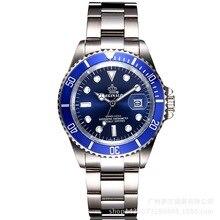 REGINALD Crown quartz male watch business casual men's Steel calendar Japan wate