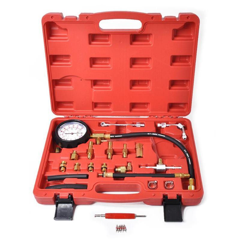 Auto injecteur de carburant pompe d'injection testeur de pression voiture Test de carburant jauge de consommation voiture Test de pression outils de Diagnostic