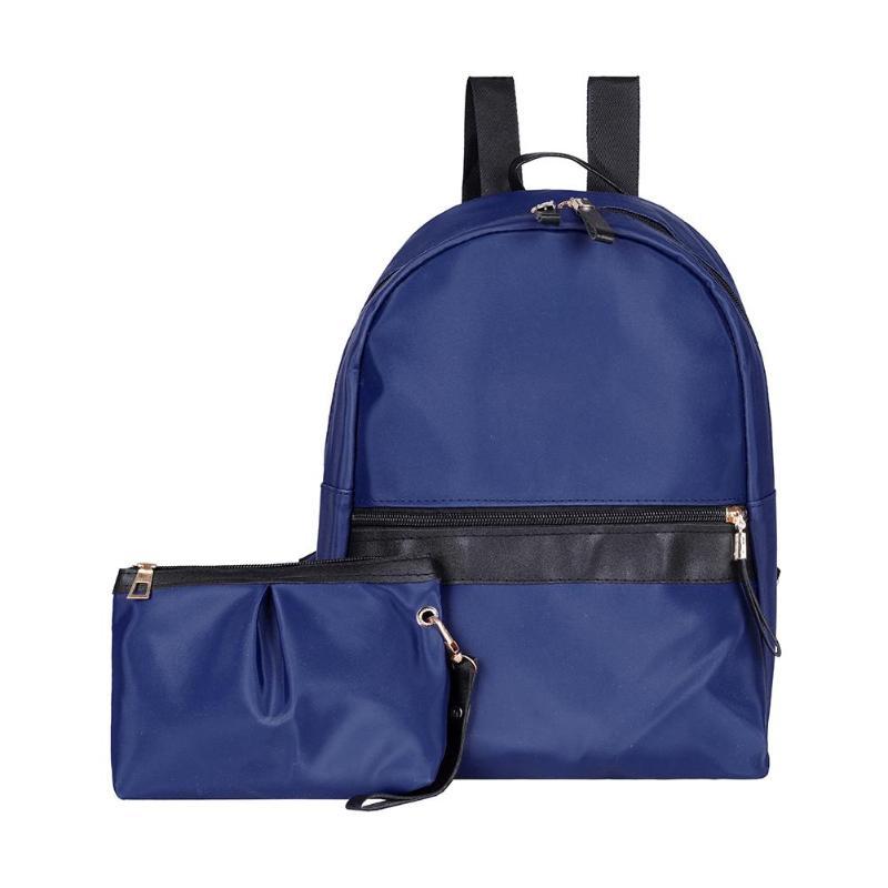 2pcs/set Travel Women Backpack Casual Nylon Shoulder School Bags Knapsack Clutch Backpack Female2pcs/set Travel Women Backpack Casual Nylon Shoulder School Bags Knapsack Clutch Backpack Female