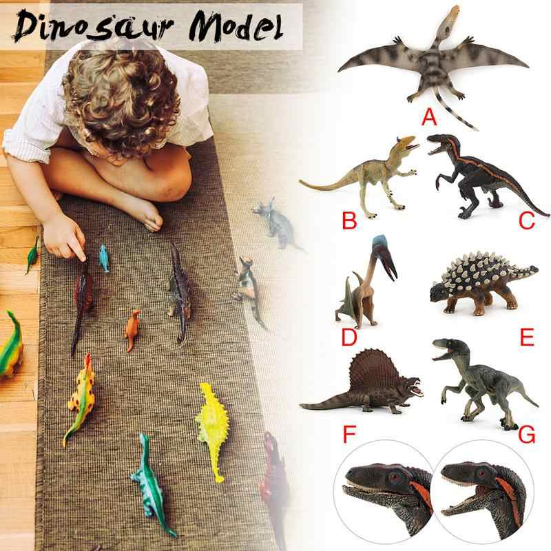 Mini Dinosaur Simulation Animals Kids Figures Toys For Children Wildlife Toys Real Life Animal Model